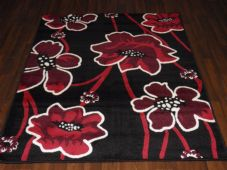 Modern Aprox 6x4ft 115x165cm Woven Backed  Rugs Sale Top Quality Black/red New